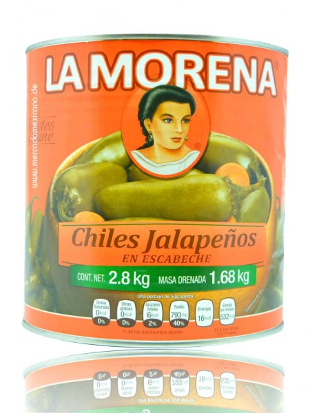 Chiles Jalapeños Enteros 2.800 g