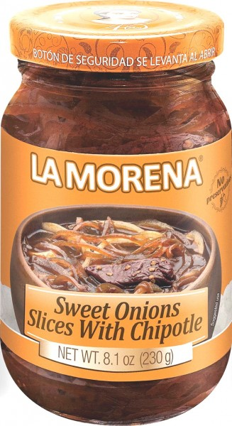 Sweet Onion Slices with Chipotle Peppers 230 g