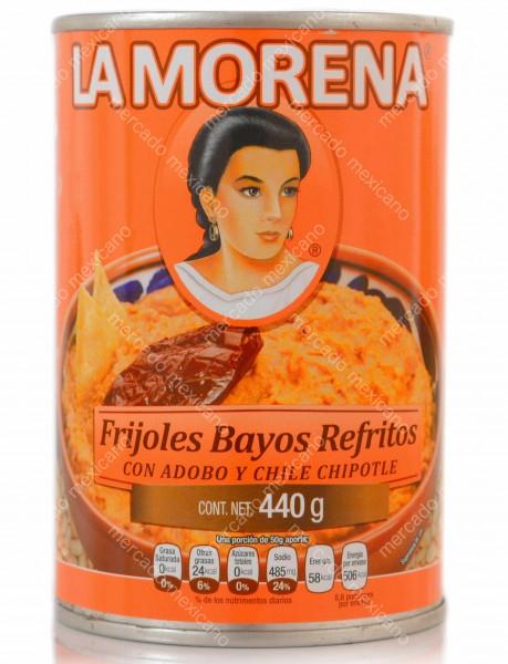 Frijoles Bayos Refritos Con Adobo Y Chile Chipotle