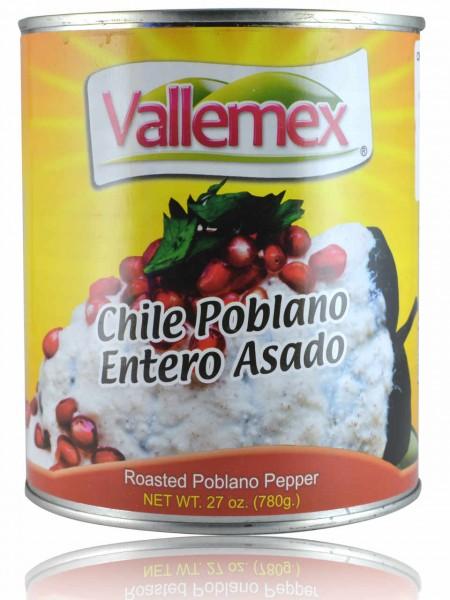 Chile Poblano Entero Asado Vallemex