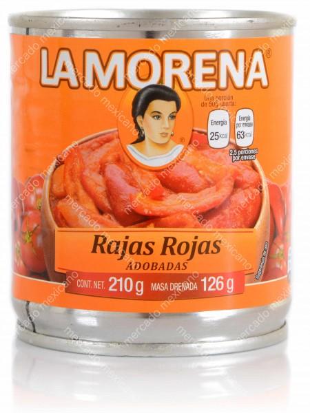 Rajas Rojas Adobadas La Morena