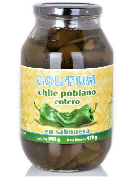 Chile Poblano Entero 940 g