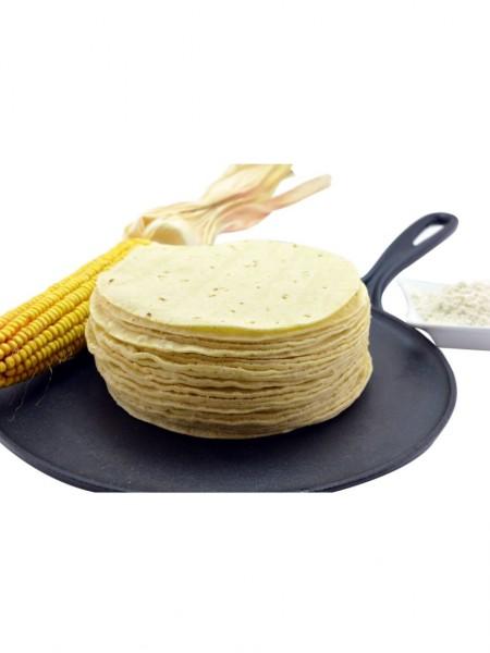 Maistortilllas aus weißem Maismehl Ø ca. 15 cm (gentechnikfrei)
