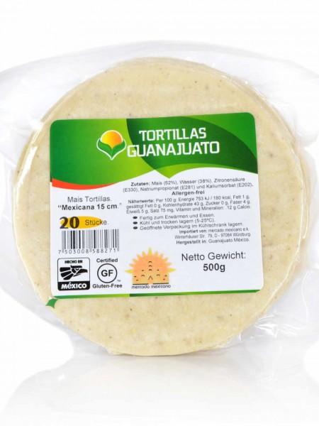 Weiße Maistortillas Mexicans Guanajuato