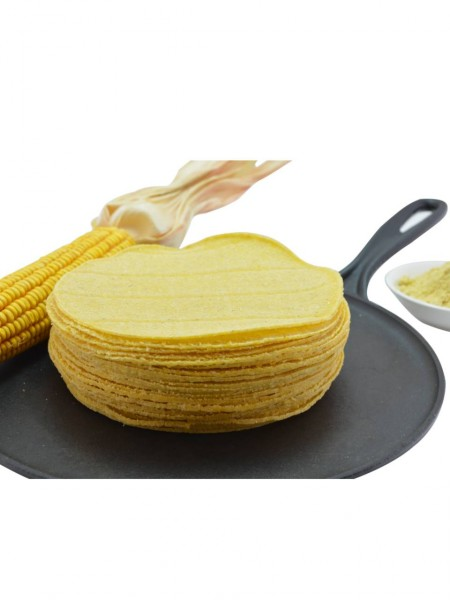 Maistortillas aus gelbem Maismehl Ø 15 cm 30 St. (gentechnikfrei)